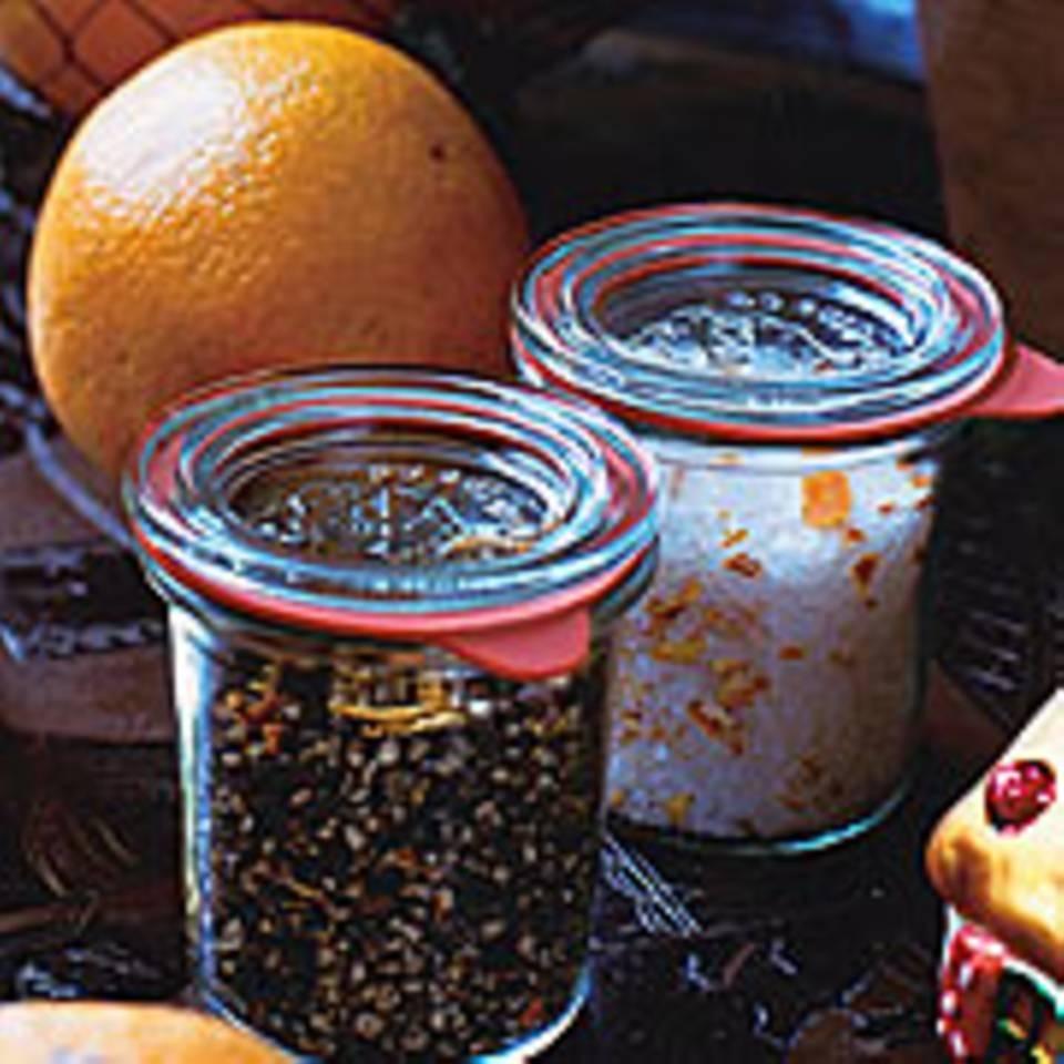 Orangenpfeffer und Orangensalz