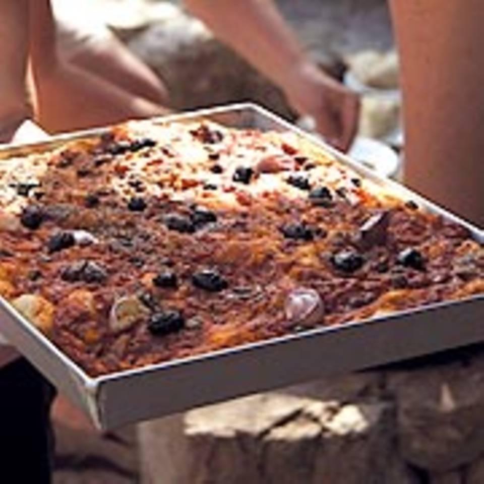 Ligurische Pizza - Sardeneira