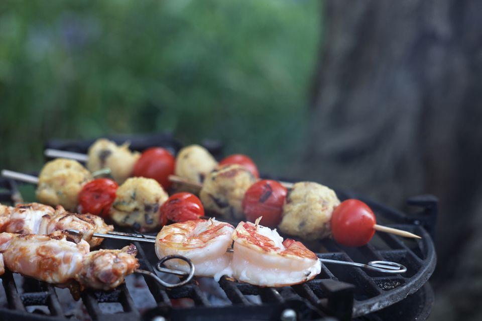 Tomaten-Polenta-Spieße