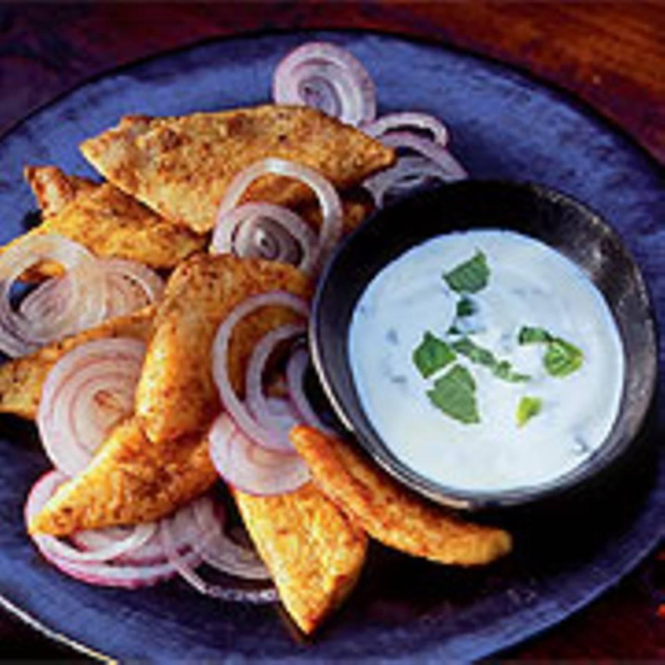 Pangasius-Filets mit Minzjoghurt