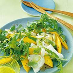 Mozzarella mit Mango und Rauke