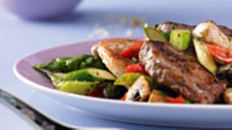 Steak Pfanne mit Ranch Gemüse