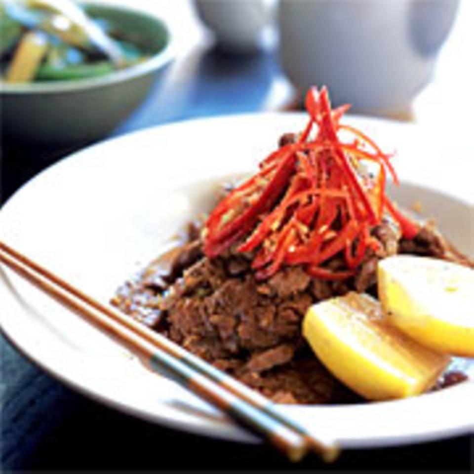 Gebratenes Rinderfilet mit Szechuan-Pfeffer und Sherry