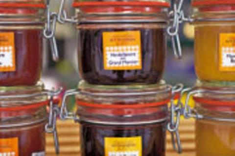 Aprikose-Kiwi-Marmelade two in one