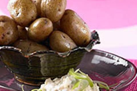 Kartoffeln mit Makrelen-Stippe