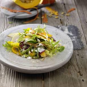 Herbstsalat mit Kürbis