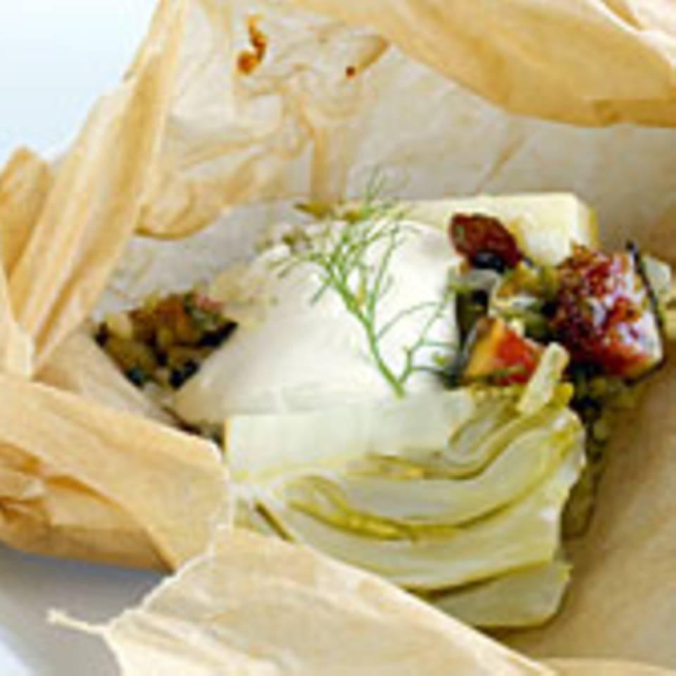 Fenchel und Feigen im Pergament gebacken