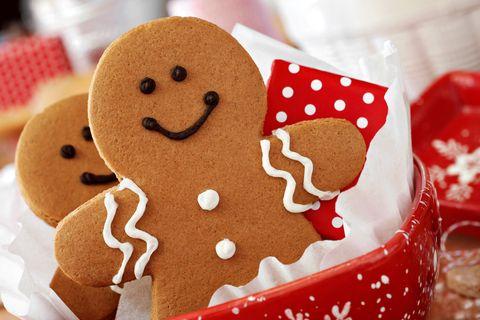 Pfefferkuchen Männchen machen glücklich zur Weihnachtszeit
