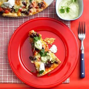 tacos mit salat und bohnencreme. Black Bedroom Furniture Sets. Home Design Ideas