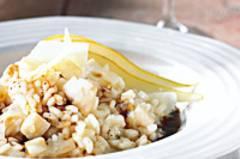Risotto mit frischen Birnen und Birnen-Balsamico