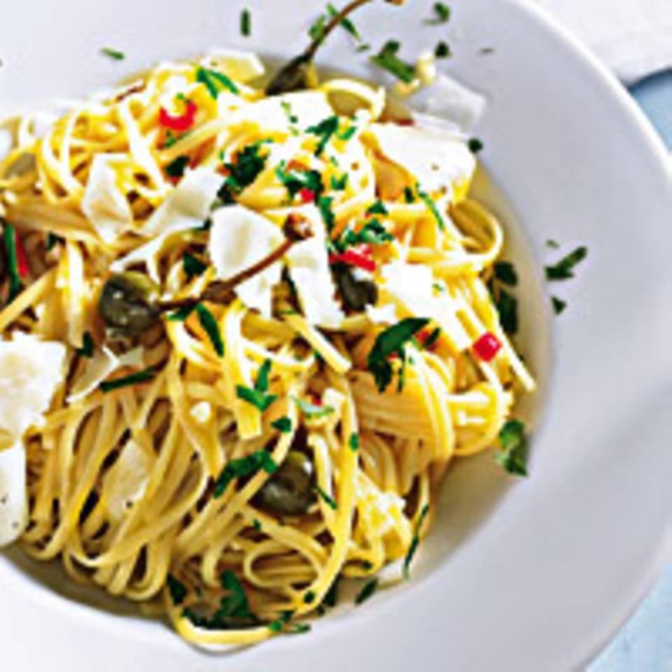 Spaghetti mit Kapernöl