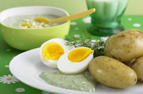 Frankfurter grüne Soße mit Pellkartoffeln und Ei