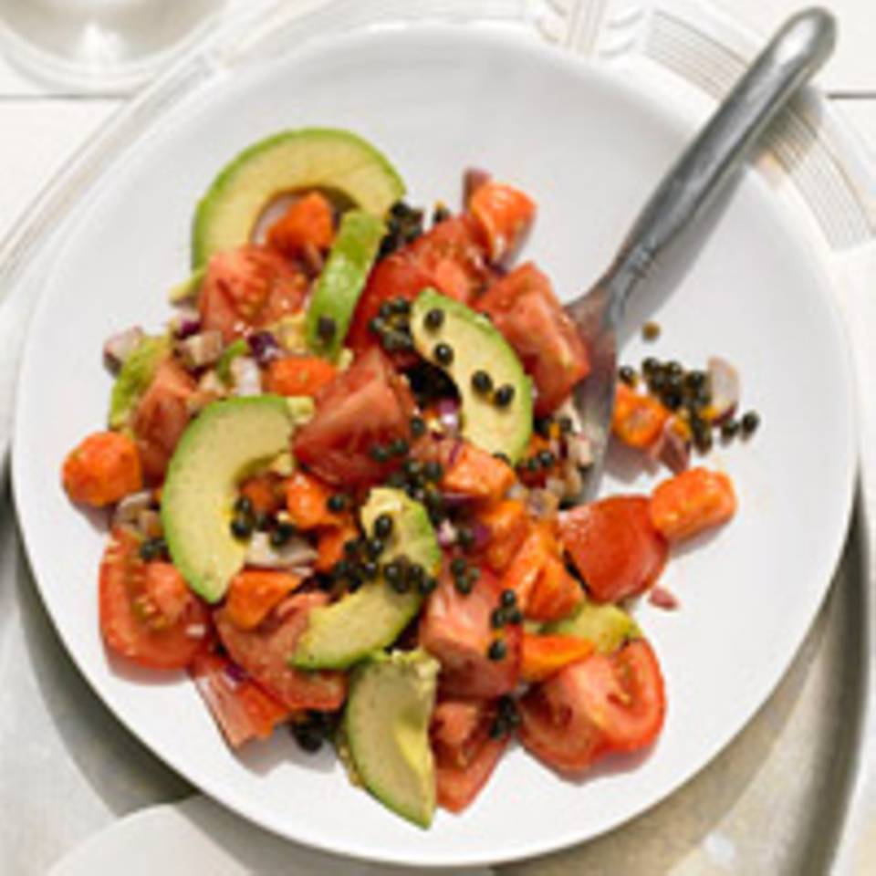 Avocado-Tomatensalat mit Papaya