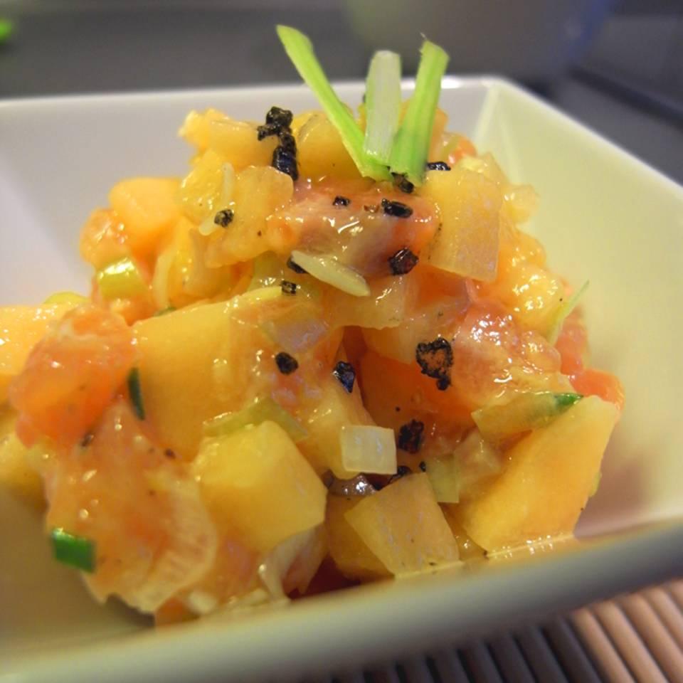 Lachs-Melonen-Tartar