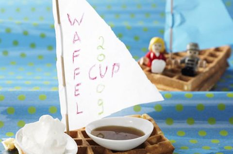 Buttermilch-Waffel-Boote