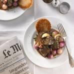 Boeuf Bourguignon - Geschmortes Rindfleisch in Burgunder