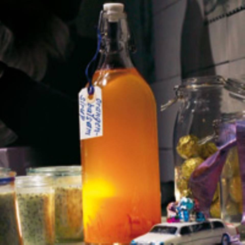 Orangenbalsam-Sirup mit Lorbeer