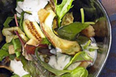 Gemischter Salat mit Croutons