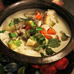 Gemüse-Hähnchen-Topf mit Ingwer