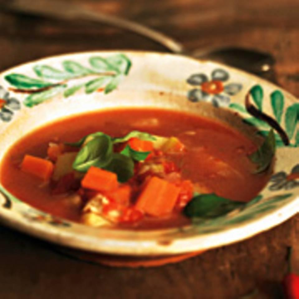 Gemüse-Hähnchen-Topf mit Chili