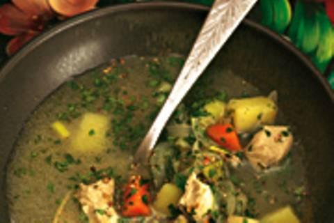 Gemüse-Hähnchen-Topf mit Pfeffer