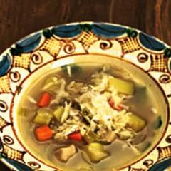 Gemüse-Hähnchen-Topf mit Meerrettich