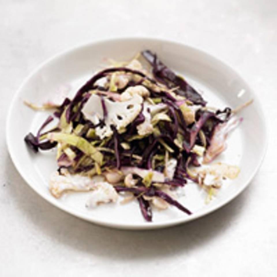 Rot-und-Weißkohl-Salat