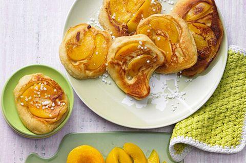 Pfirsich-Pfannkuchen