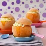 Orangeneis in der Orange