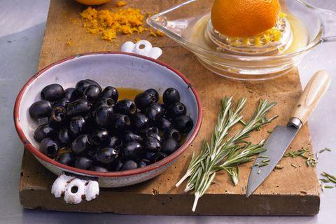 Eingelegte Oliven als Vorspeisen
