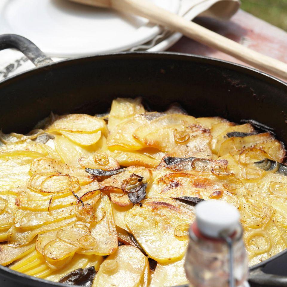 Kartoffelgratin vom Grill