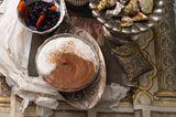 Schoko-Mousse mit Zimtsahne