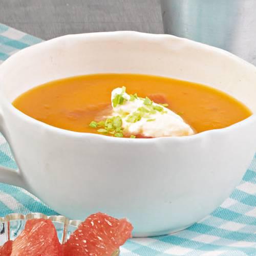 Tomatensuppe Brigitte kalte tomatensuppe mit grapefruit sahne brigitte de