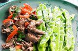 Gyros vom Lamm mit grünen Bohnen