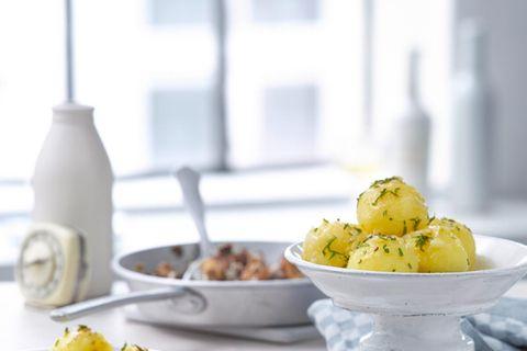 Kartoffelklöße mit Steinpilz-Cognac-Füllung