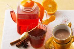 Cranberry-Punsch mit Limette