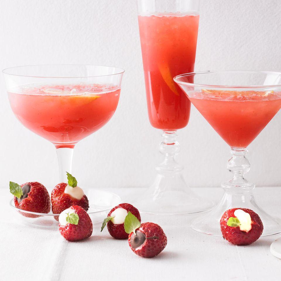 Gefüllte Erdbeeren mit Schokolade