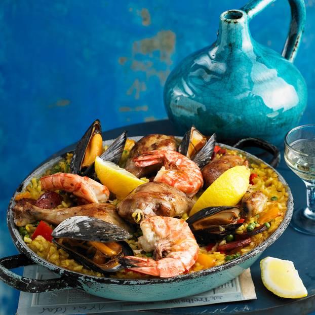 Paella mit Meeresfrüchten