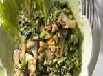 Löwenzahn-Couscous mit Kräuterseitlingen