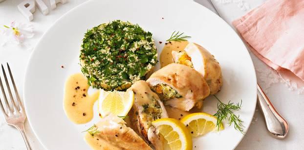 Gefüllte Hähnchenbrust mit Kräuter-Couscous