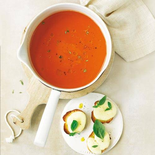 Tomatensuppe Brigitte tomatensuppe mit mozzarella crostini brigitte de