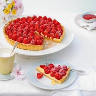 Himbeer-Lavendel-Tarte