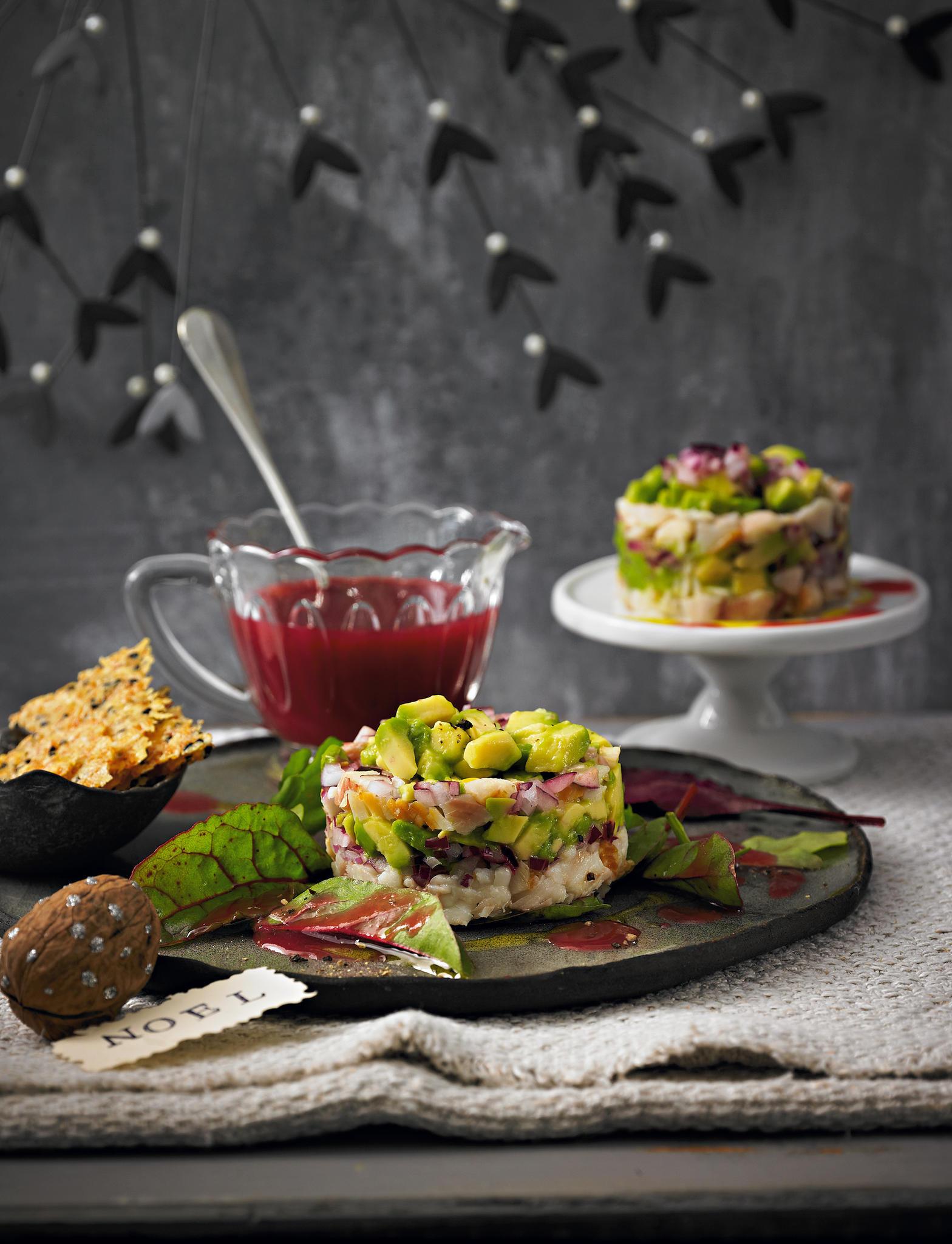 Was Koche Ich An Weihnachten.Forellen Avocado Tatar Mit Käse Crackern