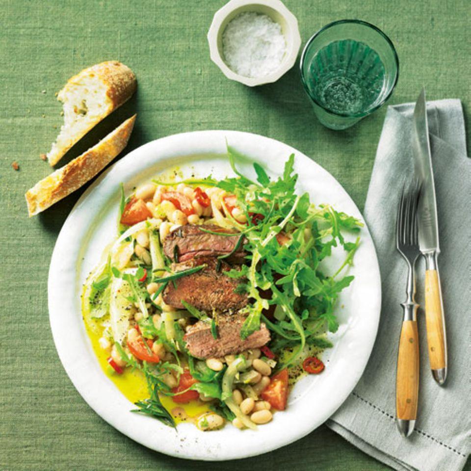 Bohnensalat mit Lamm