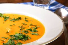 Kürbissuppe mit Sahne