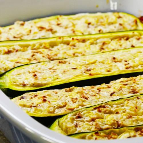 Vegetarisch Gefüllte Zucchini Brigittede