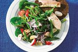 Forelle mit grünem Bohnensalat