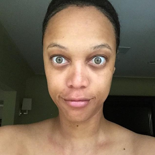 Ohne Make-up: Tyra Banks