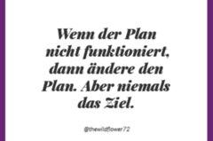 Wenn der Plan nicht funktioniert, dann ändere den Plan. Aber niemals das Ziel.