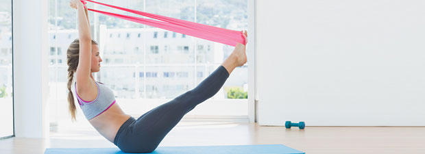 Fit mit Theraband
